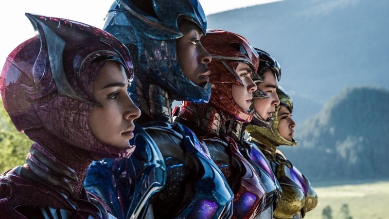 Power Rangers, team, Dacre Montgomery, Becky G, superhero (horizontal)