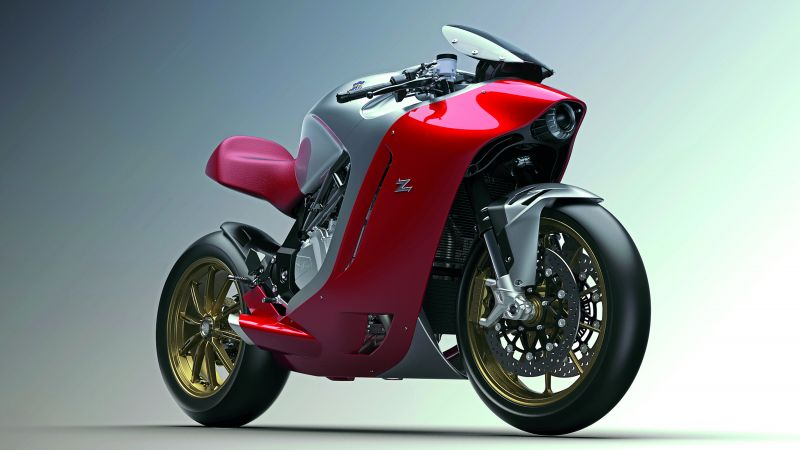 MV Agusta F4Z, speedbike, superbike, red, best bikes (horizontal)