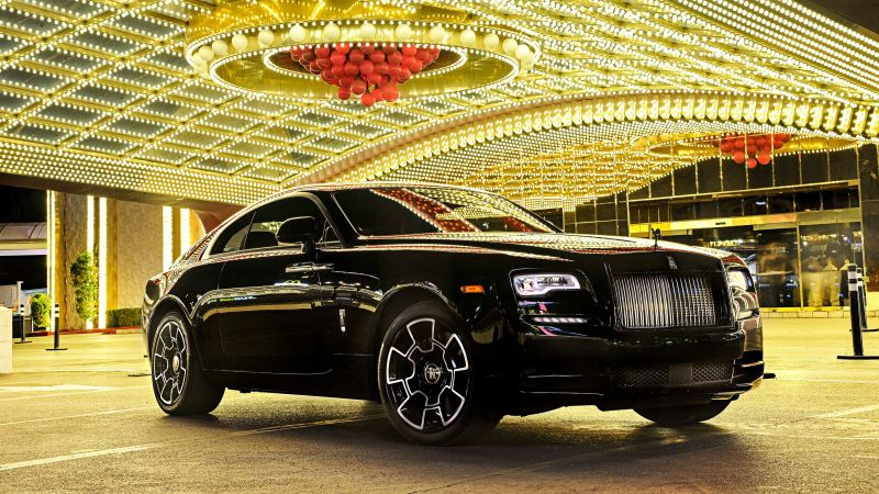 Rolls-Royce Wraith, Black Badge, paris auto show 2016, luxury cars (horizontal)