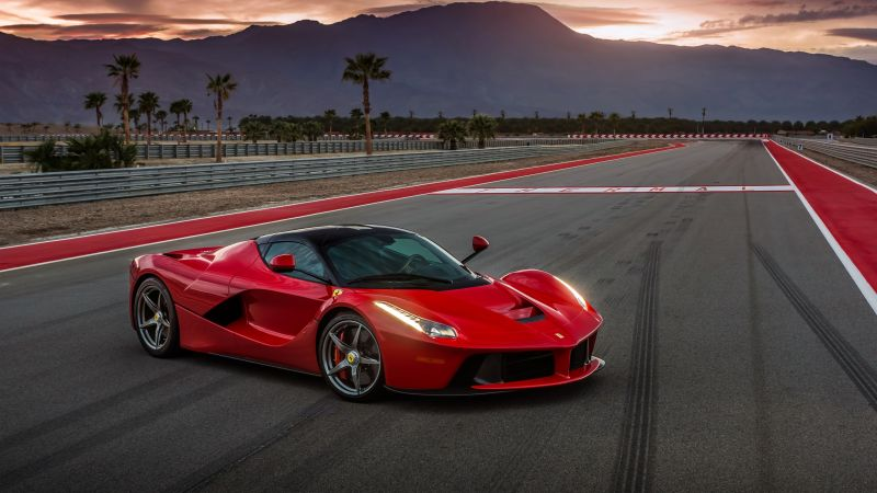 ferrari laferrari, supercar, sport cars, red, speed (horizontal)