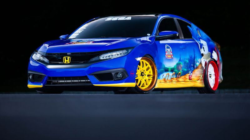 Honda's Sonic Civic, sedan, blue, sonic (horizontal)