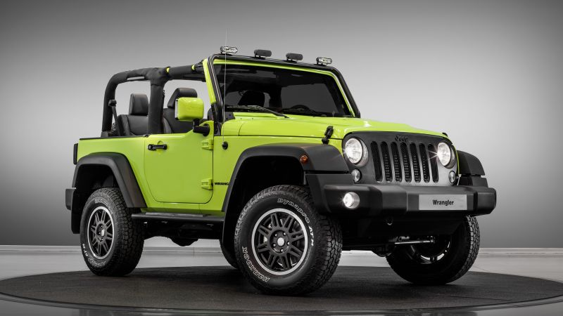 jeep wrangler rubicon, paris auto show 2016, moparone, green (horizontal)