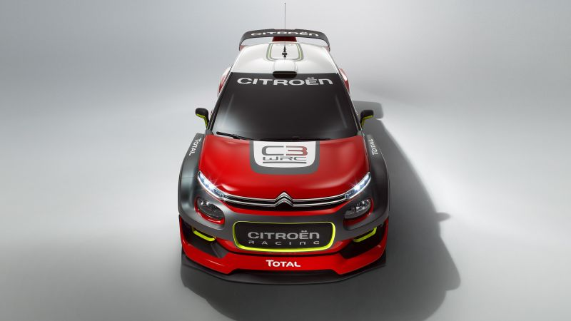 Citroen C3 WRC, paris auto show 2016, red, rally (horizontal)