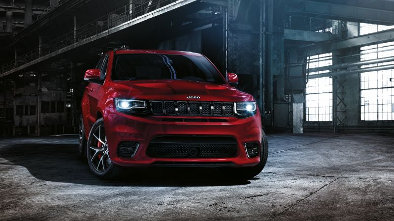 Jeep grand cherokee SRT, paris auto show 2016, moparone, red (horizontal)