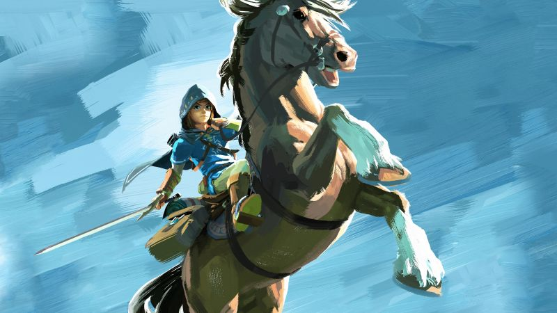 The Legend of Zelda: Breath of the Wild, best games, horse, Wii U, NX (horizontal)