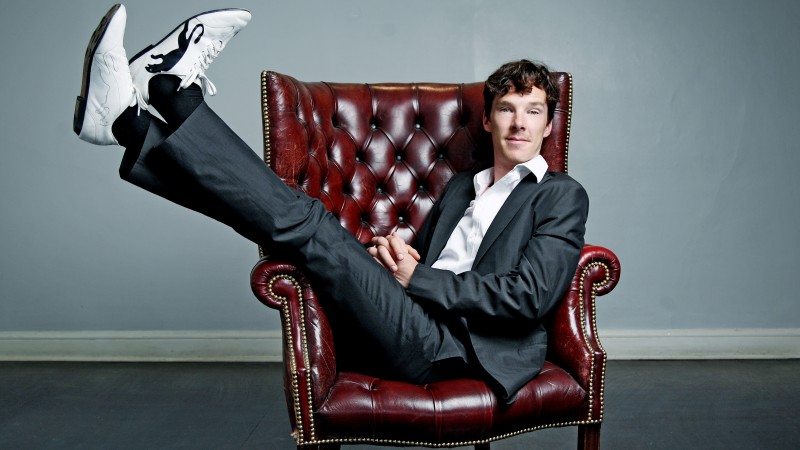 Benedict Cumberbatch, Actor, television star, room, chair (horizontal)