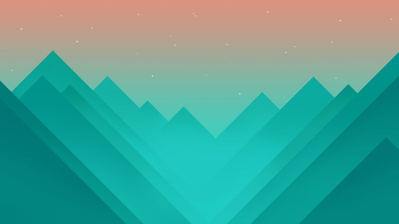 flat, polygons, 4k, 5k, mountains, iphone wallpaper, android wallpaper, ...