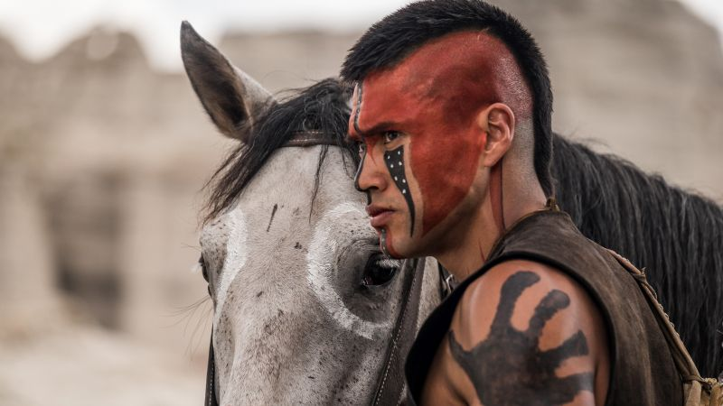 The Magnificent Seven, Martin Sensmeier, indian, horse (horizontal)