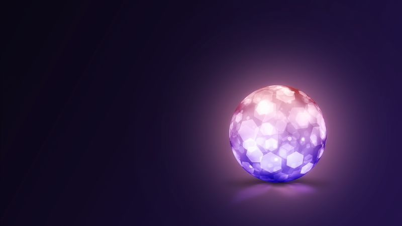crystal, 8k, 4k, 5k wallpaper, lightning, ball (horizontal)