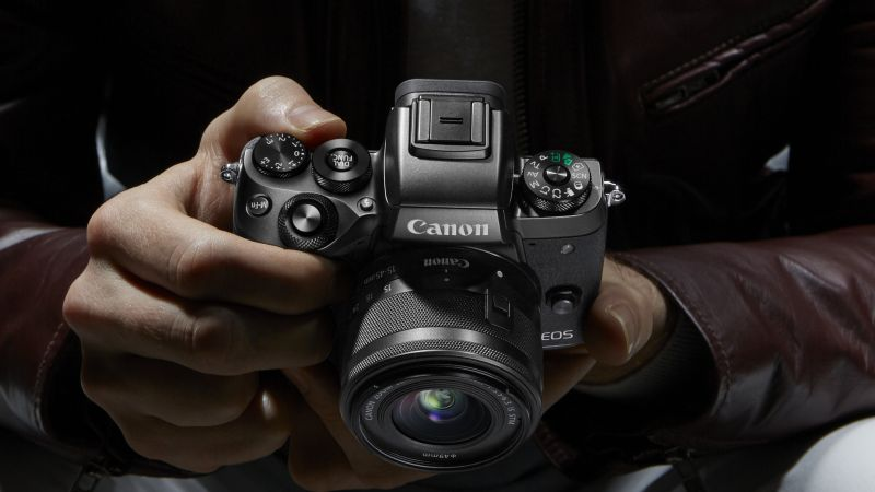 Canon EOS M5, Photokina 2016, 4k, review, Canon zoom, reflex (horizontal)
