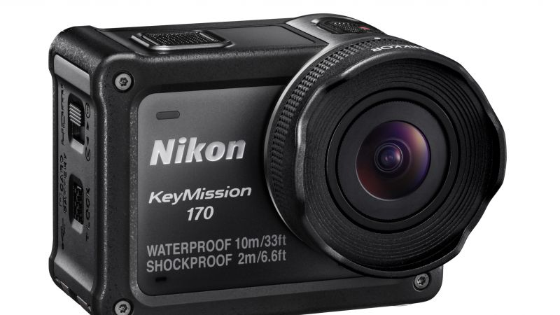Nikon KeyMission 170, review, action camera, Photokina 2016, 4k video, lens, unboxing (horizontal)