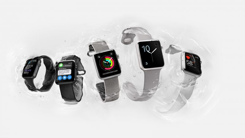 Apple Watch Series 2, smart watch, iWatch, wallpaper, Apple, display, silver, Real Futuristic Gadgets (horizontal)