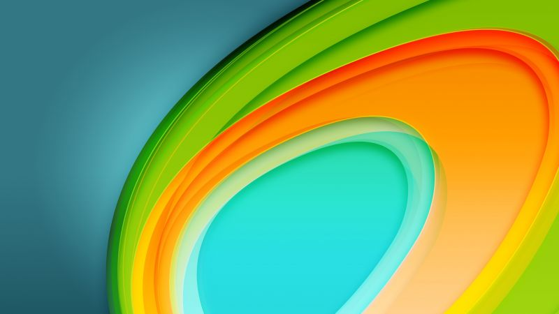 Circle, 4k, 5k, abstract, android wallpaper (horizontal)