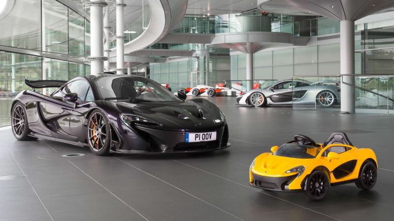 Mclaren p1, toy car, electric cars, supercar (horizontal)