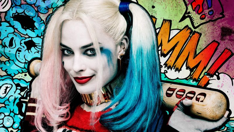 Harley quinn, Suicide Squad, Margot Robbie, Best Movies of 2016 (horizontal)