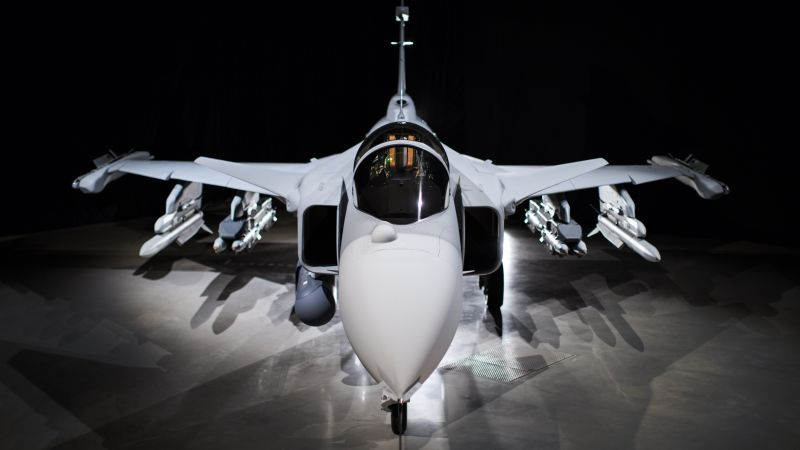 JAS-39E Gripen, fighter aircraft, Swedish Air Force (horizontal)