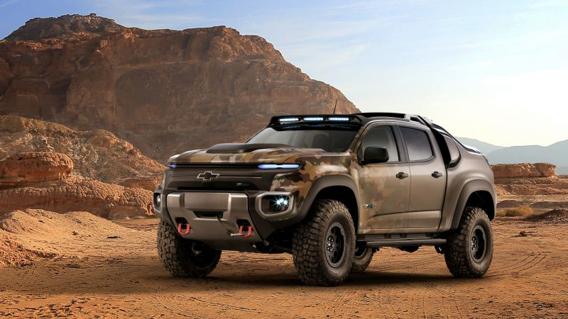 Chevrolet Colorado ZH2, Electric cars, U.S. Army, Vehicle (horizontal)