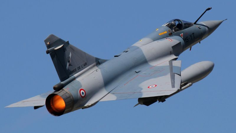 Dassault Mirage 2000, fighter aircraft, French Air Force (horizontal)