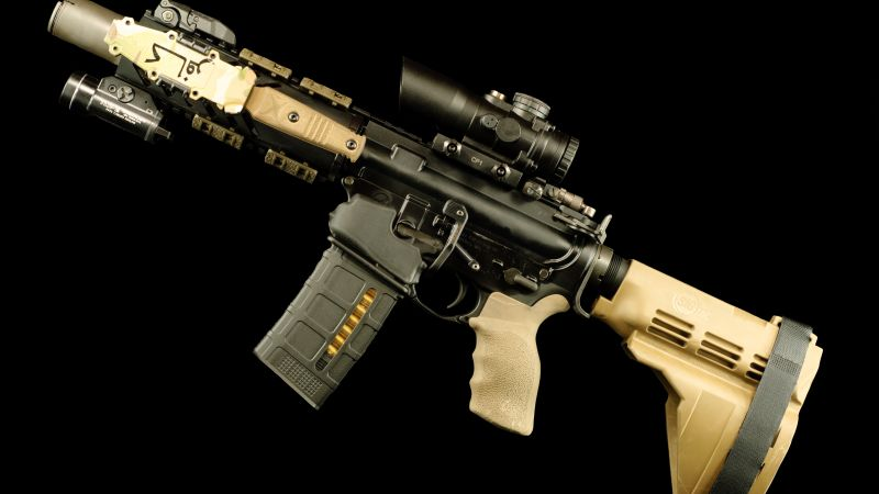 AR-15 rifle, 5, 56×45, U.S. Army (horizontal)