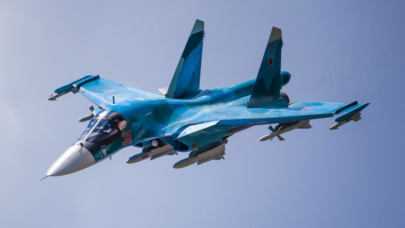 Sukhoi Su-34, fighter aircraft, Russian army, Russian air force (horizontal)