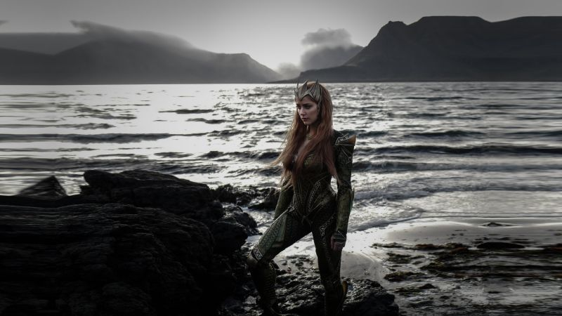 Justice League, amber heard, queen mera (horizontal)