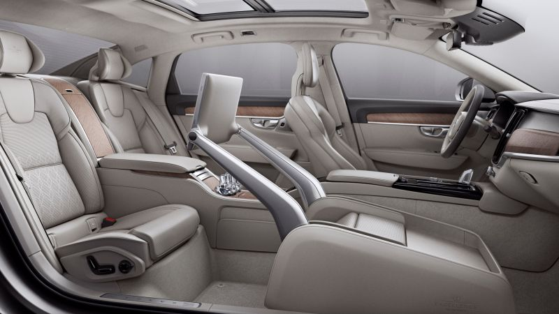 Volvo S90, interior, luxury cars (horizontal)