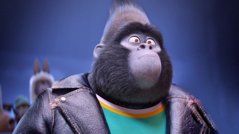 Sing, gorilla, johnny, taron egerton, best animation movies of 2016 (horizontal)
