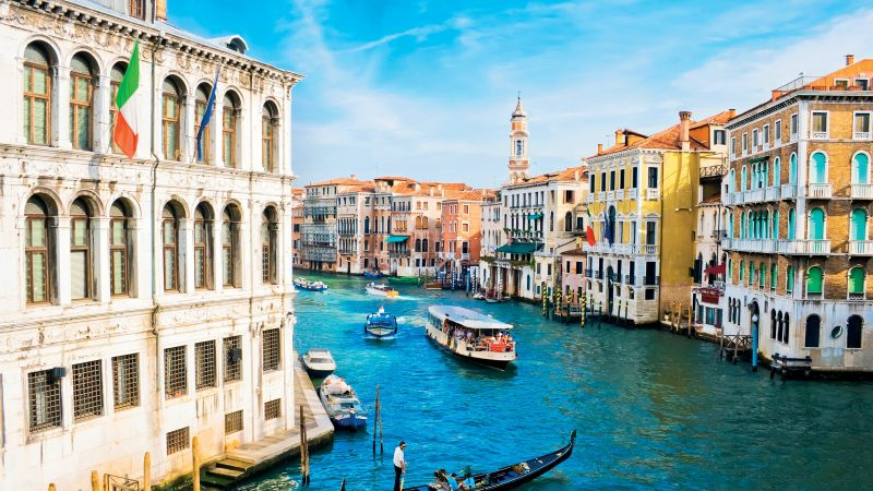 Grand Canal, Venice, Italy, Europe, travel, tourism (horizontal)
