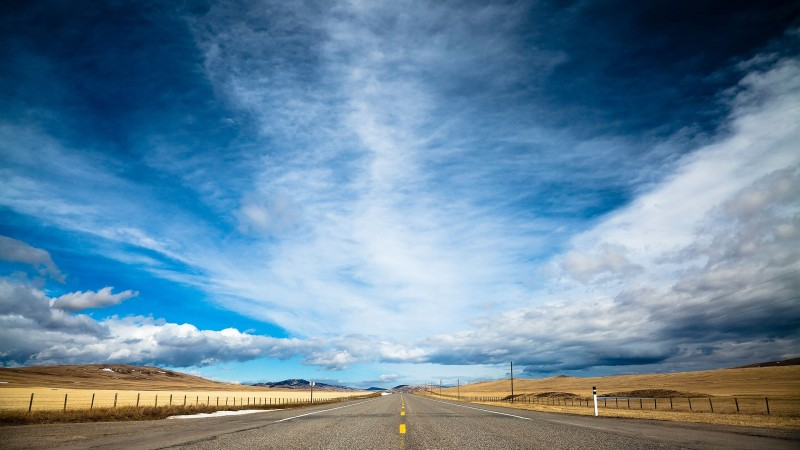 road, 4k, HD wallpaper, clouds, day, sky, dream (horizontal)