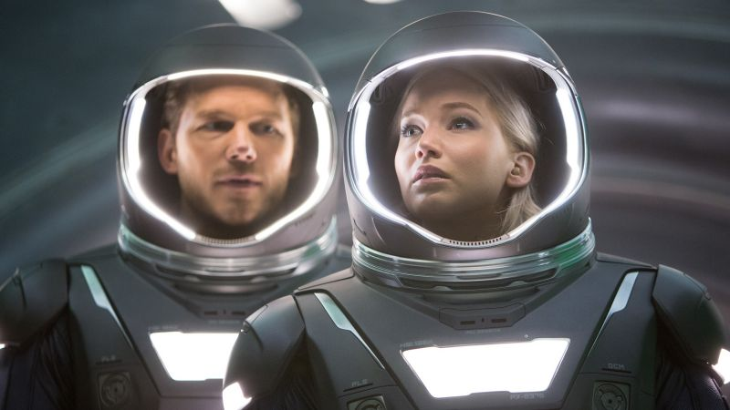 Passengers, Jennifer Lawrence, Chris Pratt (horizontal)