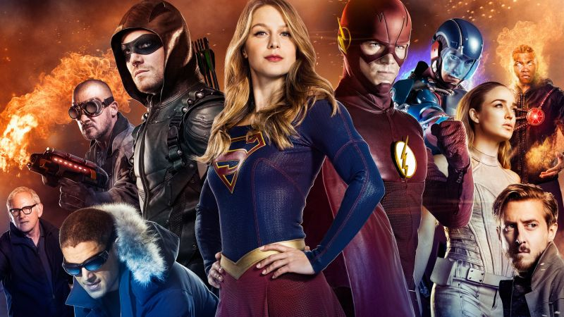 Arrow, Supergirl, Flash, Legends of tomorrow, TV Series (horizontal)