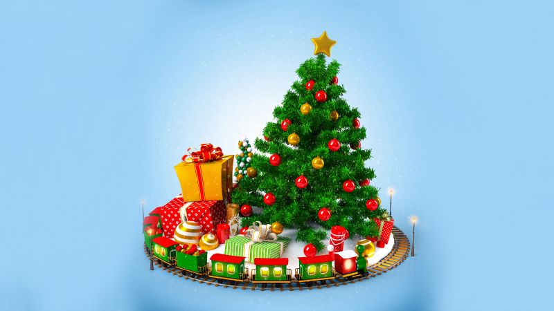 fir-tree, Christmas, New Year (horizontal)