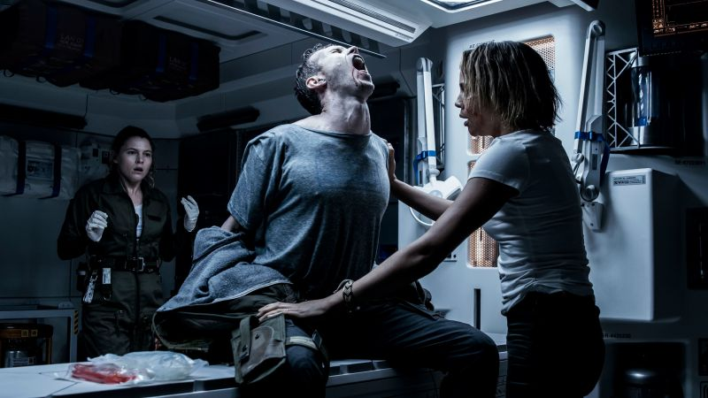 Alien: Covenant, Carmen Ejogo, Amy Seimetz, chestburster, best movies (horizontal)