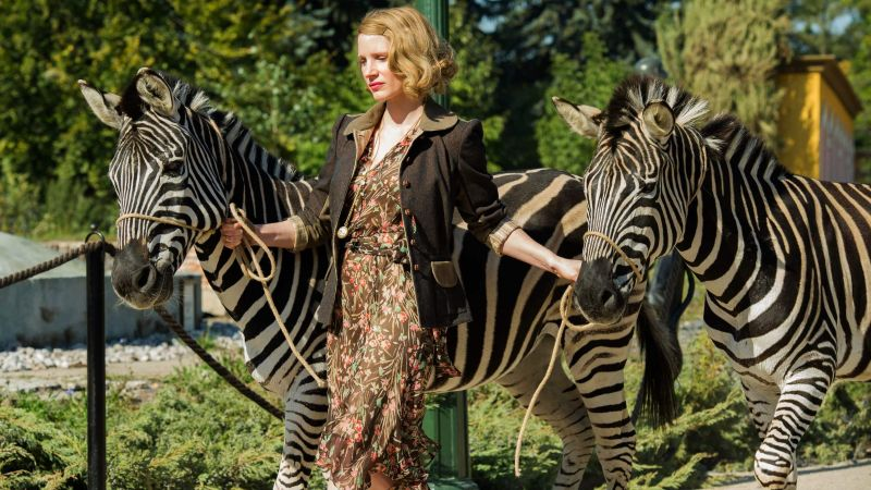 The Zookeeper's Wife, Jessica Chastain, zebra, best movies (horizontal)
