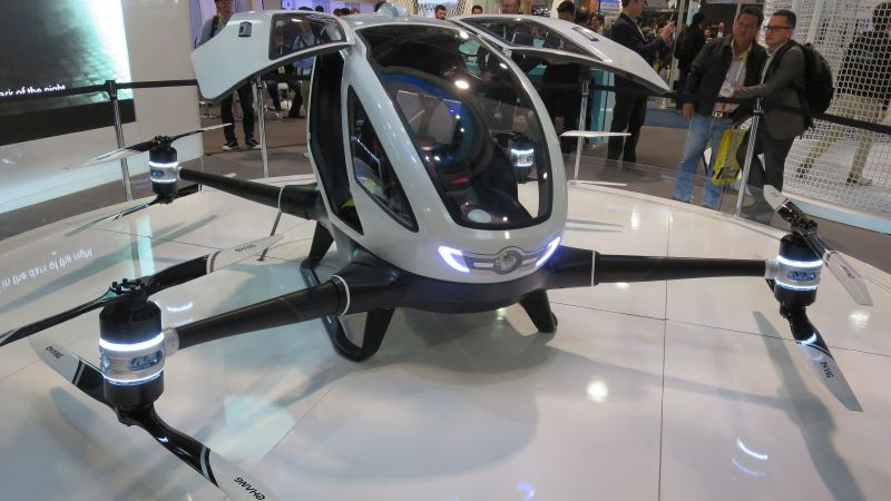 Ehang 184, aerial vehicle, best drones, review (horizontal)