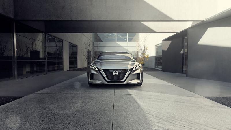 Nissan Vmotion 2.0, 8k, HD wallpaper, concept, front (horizontal)