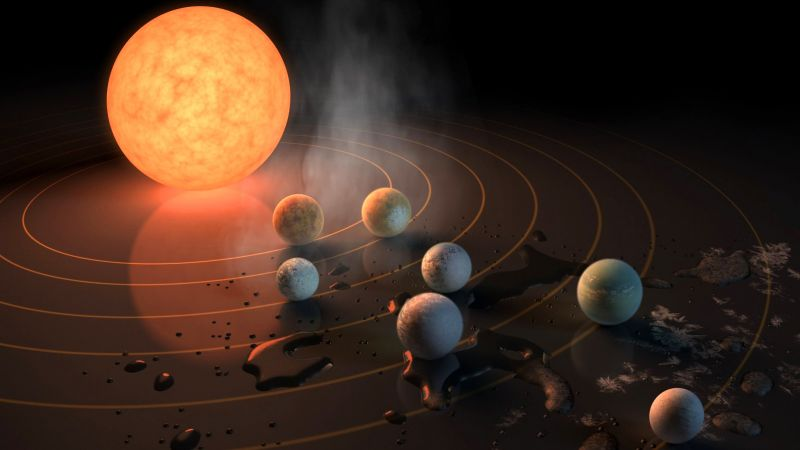TRAPPIST-1, exoplanet, star, planets (horizontal)