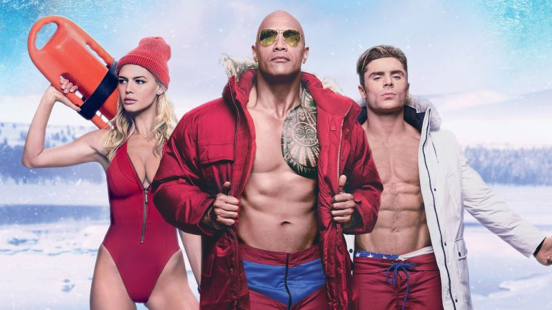 Baywatch, Dwayne Johnson, Zac Efron, best movies (horizontal)