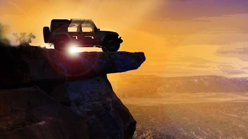 Jeep Switchback, HD wallpaper, Jeep Wrangler, SUV, concept (horizontal)