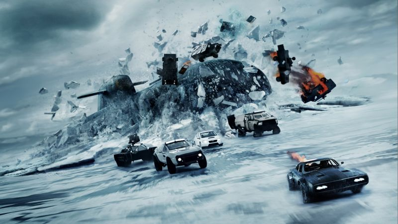 The Fate of the Furious, racing cars, best movies (horizontal)