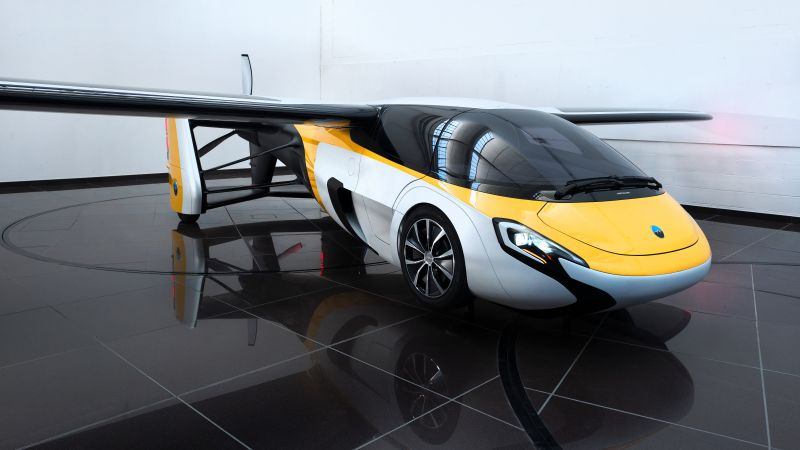 AeroMobil 3.0, concept, aircraft, flying car, runway, front, test drive (horizontal)