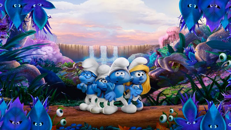 Smurfs: The Lost Village, Hefty, Clumsy, Smurfette, best animation movies (horizontal)