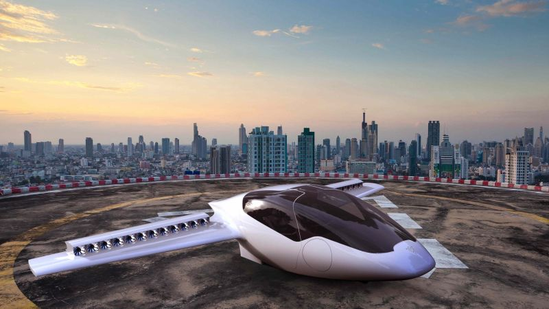 Lilium Jet, aerial vehicle, flying car (horizontal)