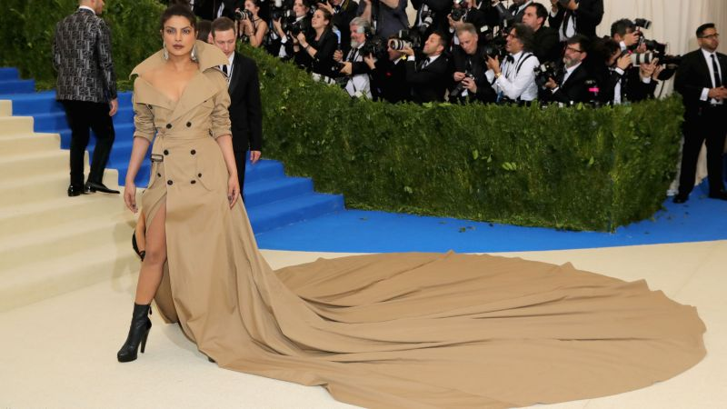 Priyanka Chopra, Met Gala 2017, dress, red carpet (horizontal)