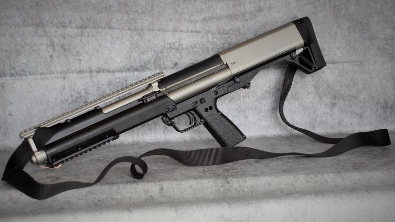 Kel-Tec KSG 10, shotgun, custom (horizontal)