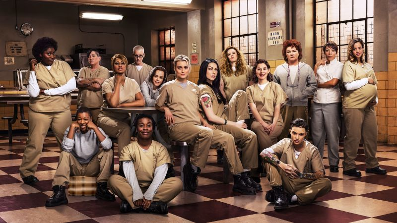 Orange is the new black, full cast, prison, Taylor Schilling, Laura Prepon, Best TV Series (horizontal)
