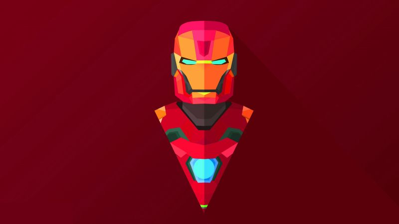 4k, iron man, abstract (horizontal)