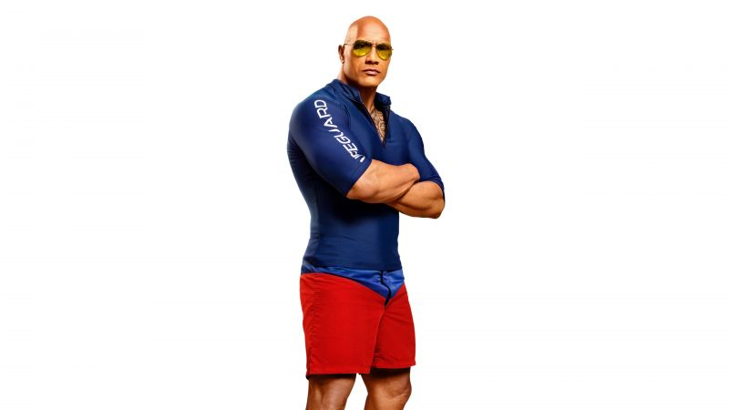 Dwayne Johnson, Baywatch, 4k, 8k (horizontal)