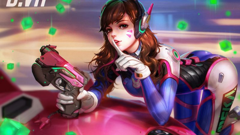DVa, 4k, HD, Overwatch, D.Va (horizontal)