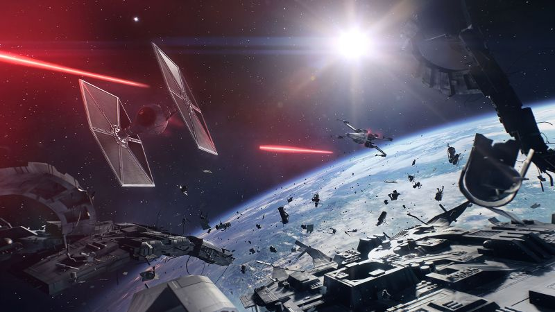 Star Wars: Battlefront II, 4k, screenshot, E3 2017 (horizontal)